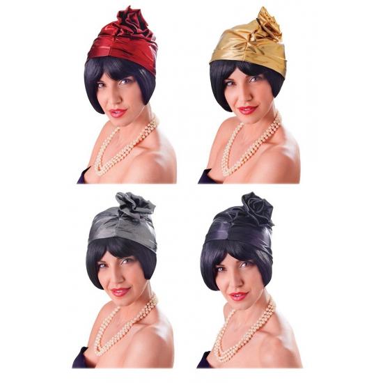 Feest hoeden Carnavalskostuum winkel Jaren 20 cloche hoedje metallic