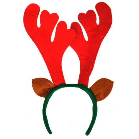 Kerst diadeems rendier gewei rood