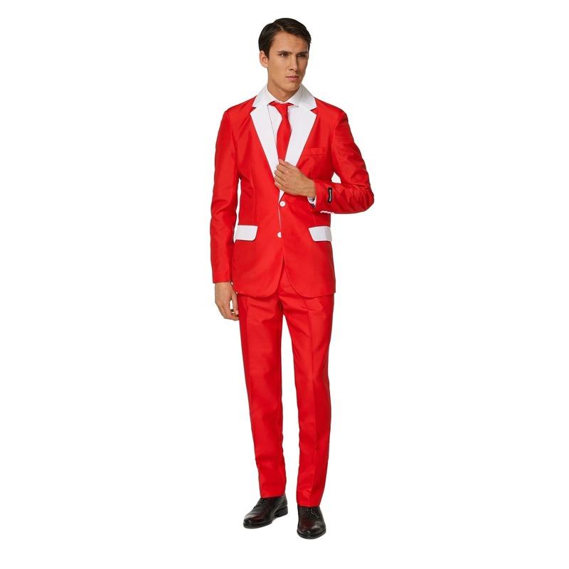 Kerst Heren pak met Kerstman kostuum print