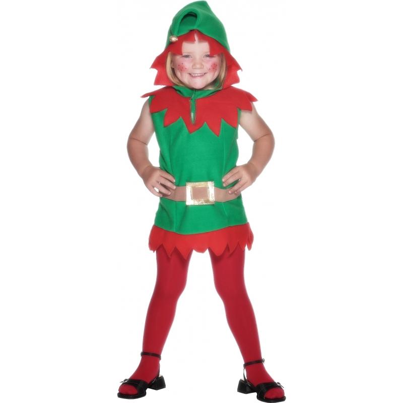 Kerst kostuums Kerstelf jurkjes voor meiden