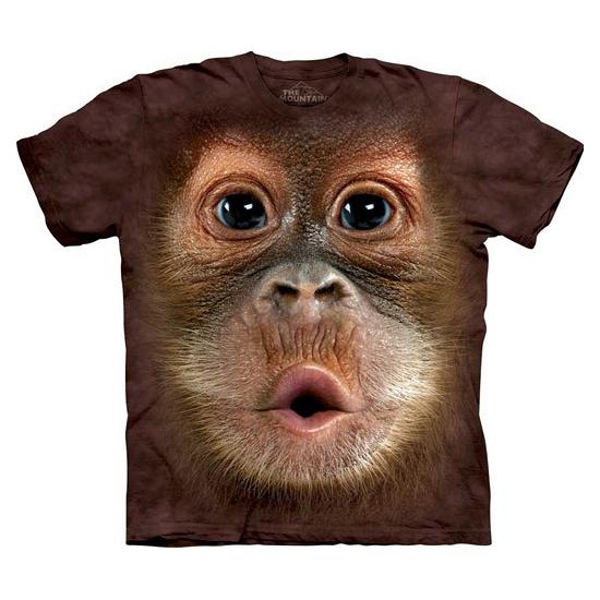 Kinder apen T shirt Orang Oetan The Mountain T shirts en poloshirts