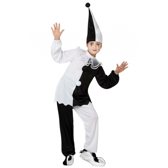 Kinder clown carnavalskleding pierrot Carnavalskostuum winkel Geweldig