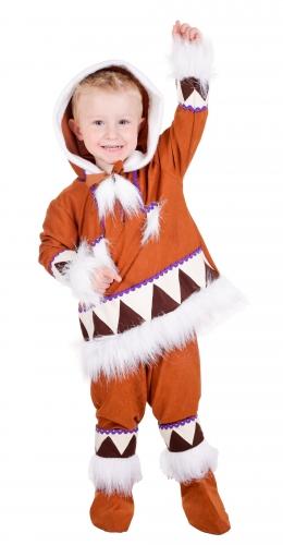 Landen kostuums Kinder eskimo verkleedkleding compleet