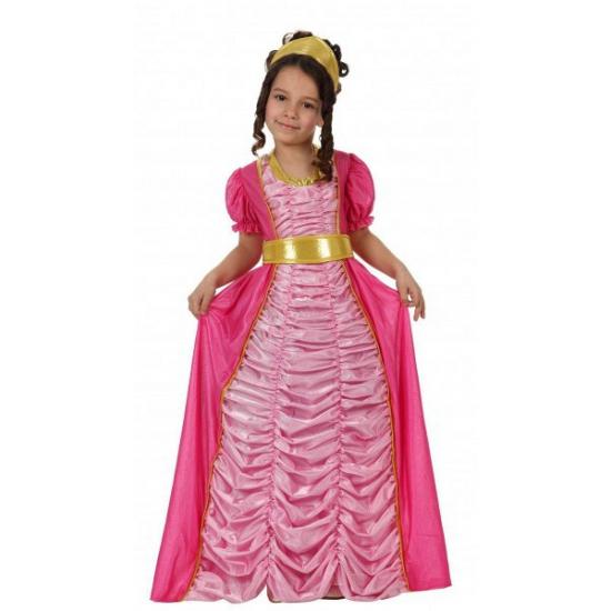 Kinder verkleedjurk roze prinses