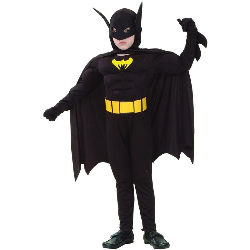 Kinder Vleermuisheld kostuum met spieren