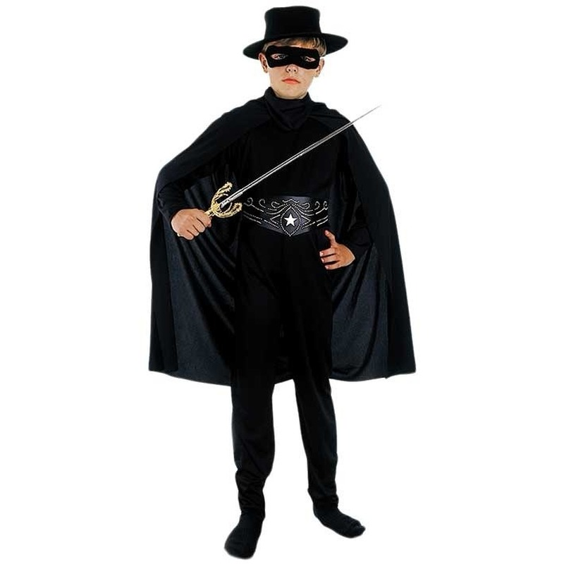 Kinder zwarte held outfit