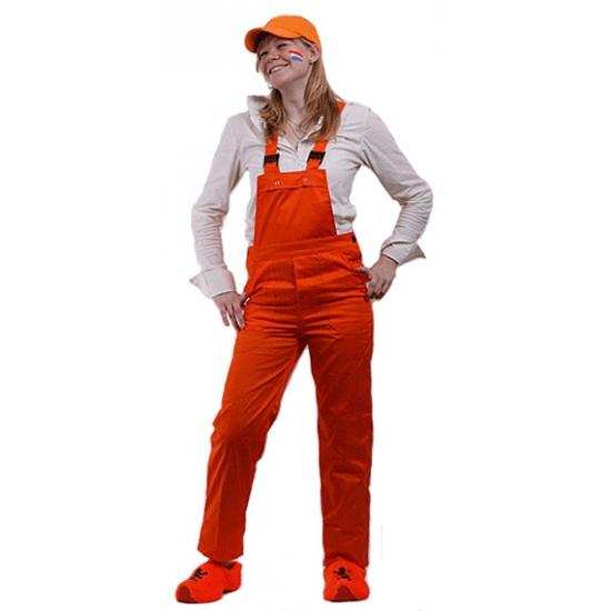 Koningsdag Oranje tuinbroek voor kinderen