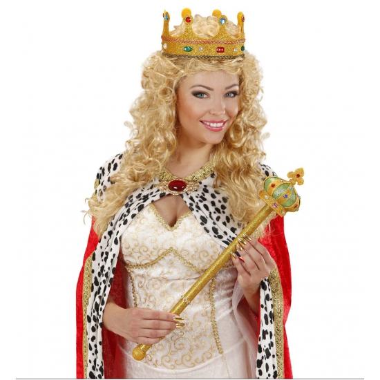 Verkleedaccessoires Carnavalskostuum winkel Koninklijke scepter 57 cm