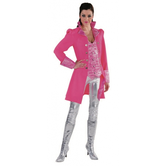 Kostuum jas voor dames neon roze