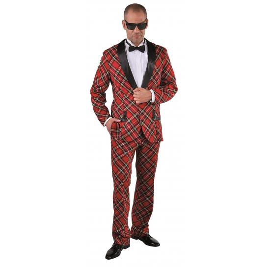 Kostuum Schotse ruit voor heren