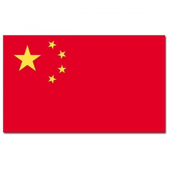 Landen versiering en vlaggen Carnavalskostuum winkel Landenvlaggen van China