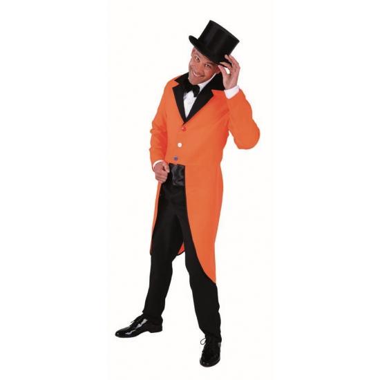 Lange oranje supporters slipjas jas Carnavalskostuum winkel te koop