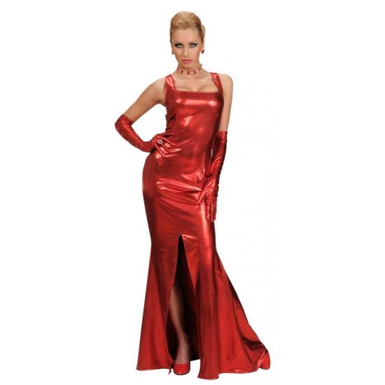 Lange rode gala jurk