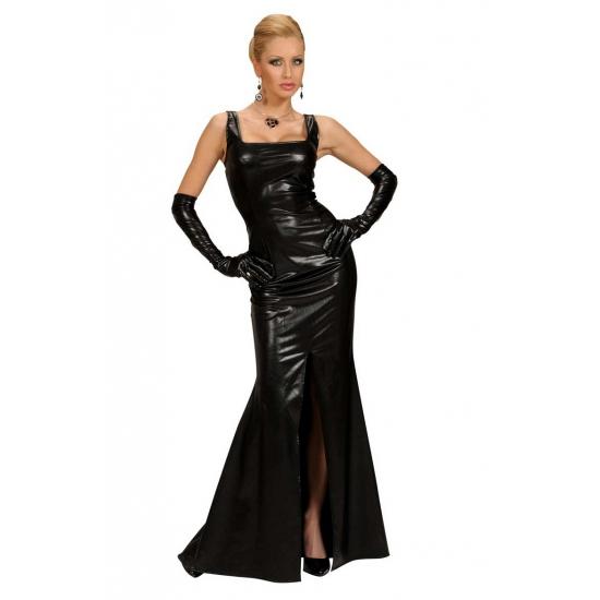 Lange zwarte gala jurk