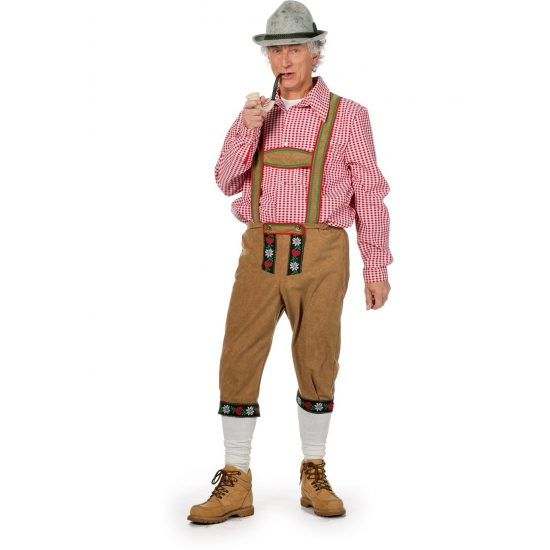 Lichtbruine Beierse lederhose voor heren