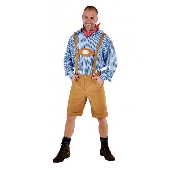 Lichtbruine Tirol broek voor heren