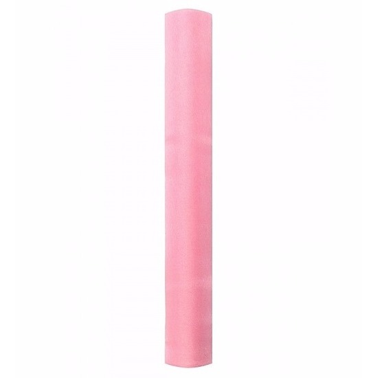 Lichtroze glans organza stof 36 cm