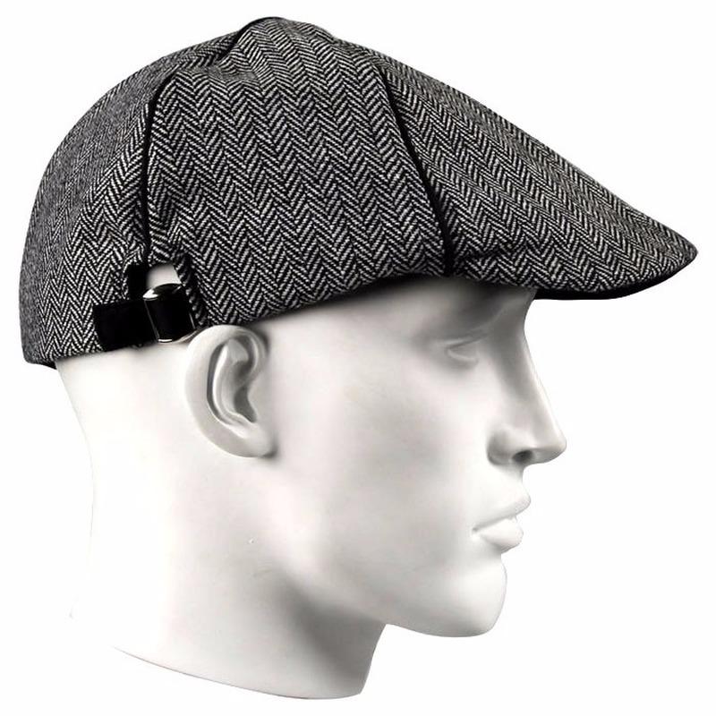 Bernardino Linnen flat cap grijs voor heren Hoeden petten caps