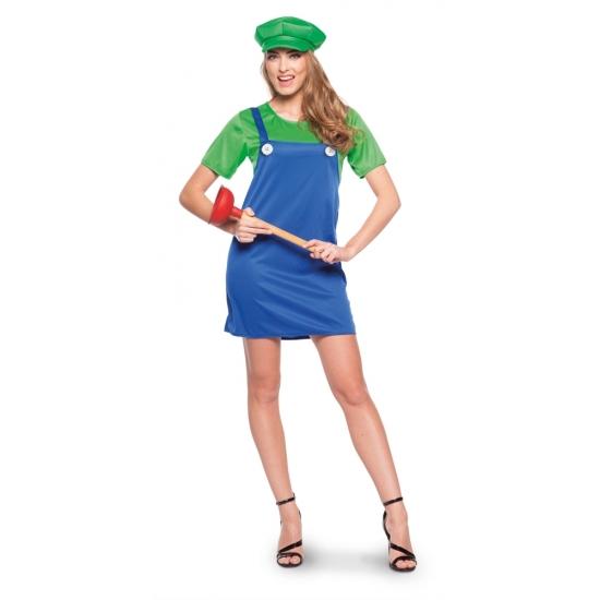 Loodgieter jurkje groen voor dames Geen Goedkoop