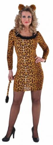 Luipaard jurkje met staart voor dames