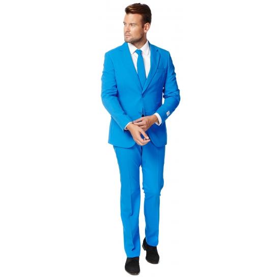 Luxe blauw heren kostuum