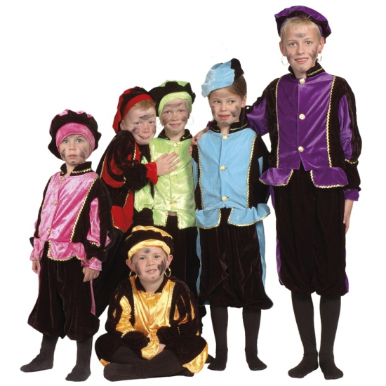 Luxe blauwe Pieten kostuum voor kinderen