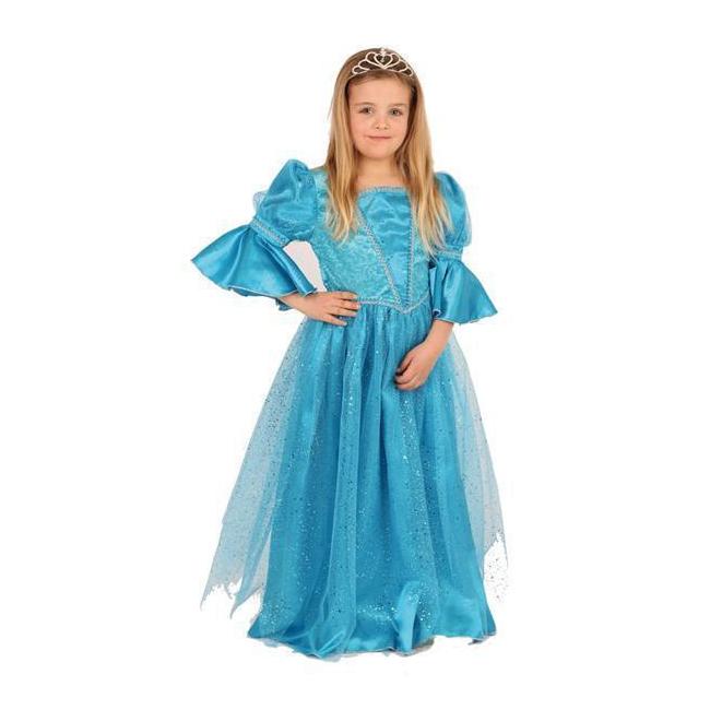 Fantasy en Sprookjes kostuums Carnavalskostuum winkel Luxe meisjes prinsessen jurk blauw