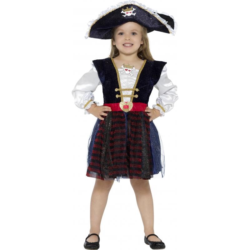 Smiffys Luxe piraten jurkje voor meisjes Geschiedenis kostuums