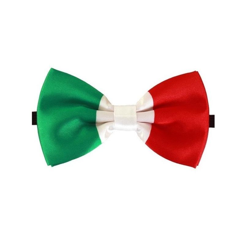 Landen versiering en vlaggen Geen Luxe strikje italie