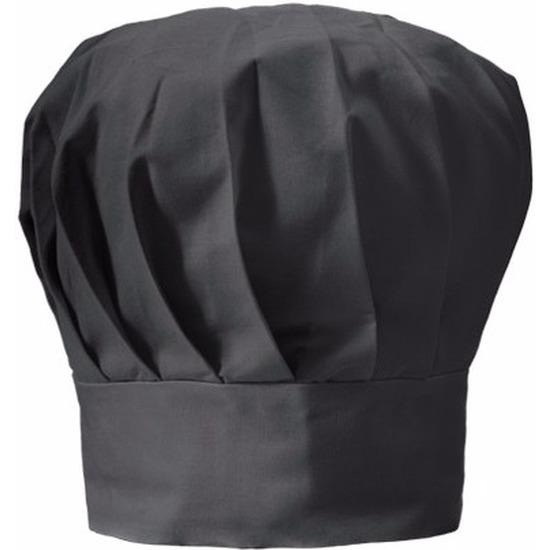 Luxe zwarte koksmuts voor volwassenen