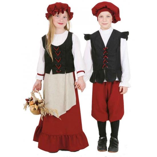 Geschiedenis kostuums Middeleeuws meisjes kostuum