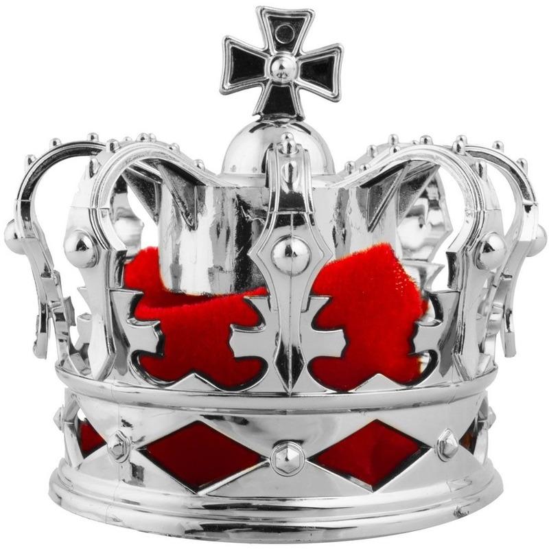 Feest hoeden Carnavalskostuum winkel Mini konings kroontje zilver