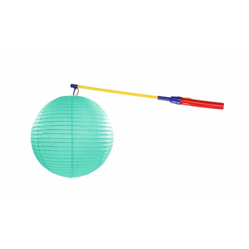 mint-groene-lampion-25-cm-met-lampionstokje