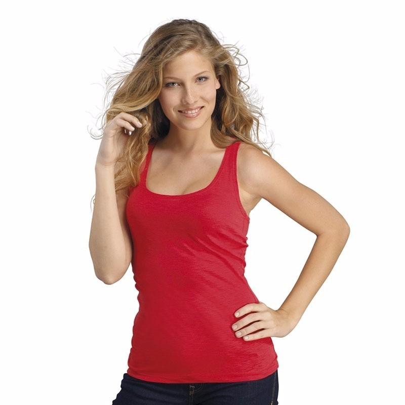 Sols Mouwloze rode shirtjes dames Jane T shirts en poloshirts