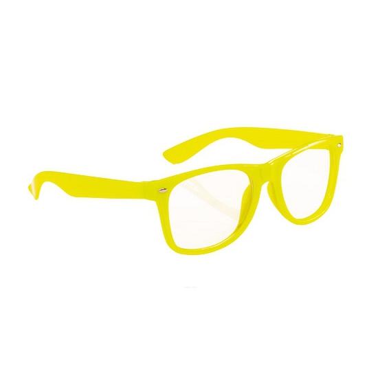 Carnavalskostuum winkel Neon bril geel Fun en Feest brillen