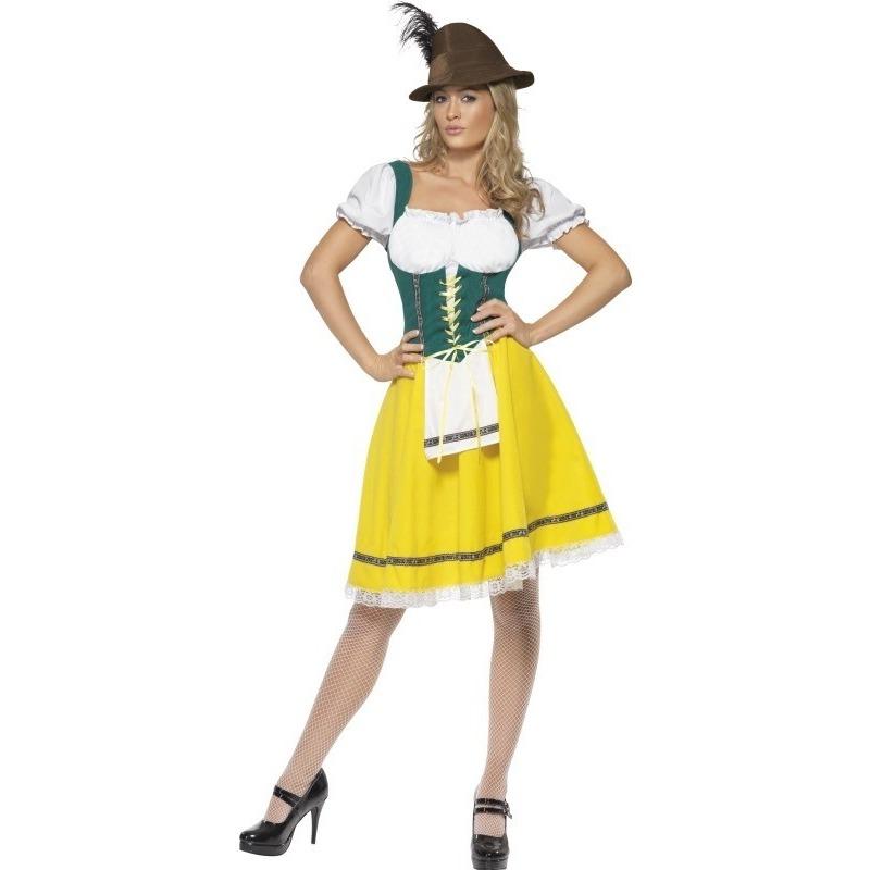 Oktoberfest - Geel/groen Dirndl jurkje voor dames