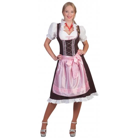 Oktoberfest - Tiroler Dirndl bruin en roze