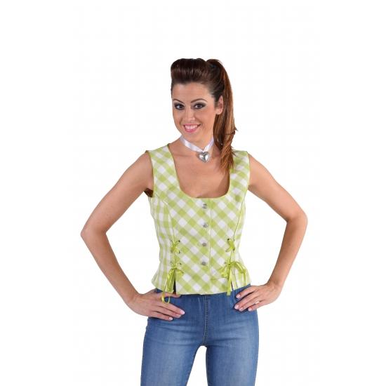 Oktoberfest Tiroler shirt mouwloos groen Carnavalskostuum winkel goedkoop online kopen