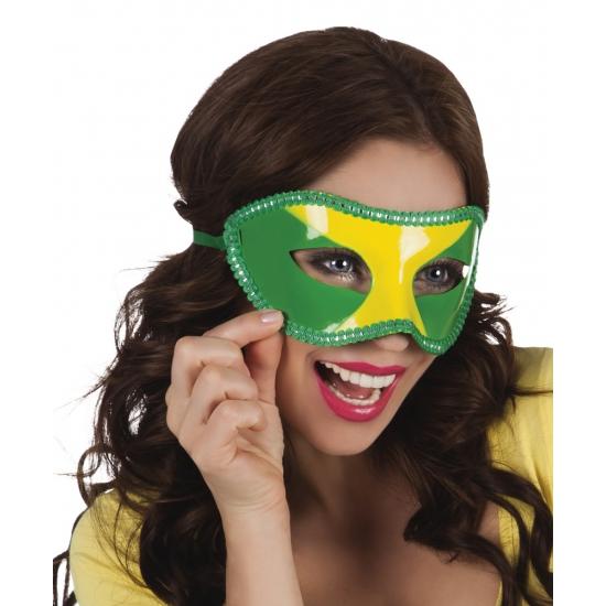 Landen versiering en vlaggen Carnavalskostuum winkel Oogmasker Brazilie