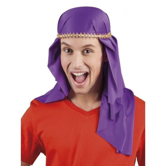 Carnavalskostuum winkel Oostere heren sluier paars Feest hoeden