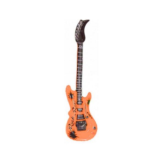 Opblaasbare gitaar oranje 55 cm
