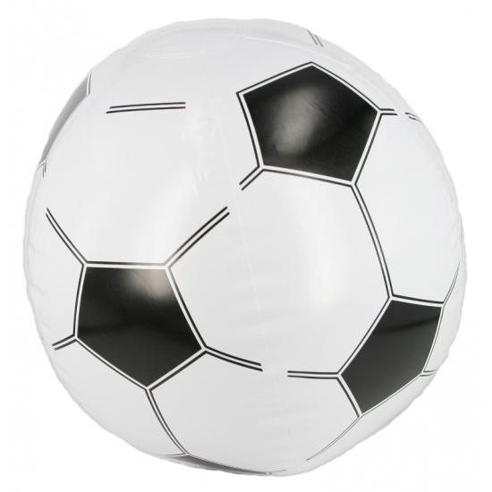 Opblaasbare voetbal strandbal 30 cm