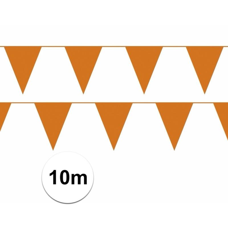 Oranje decoratie slinger 10 meter
