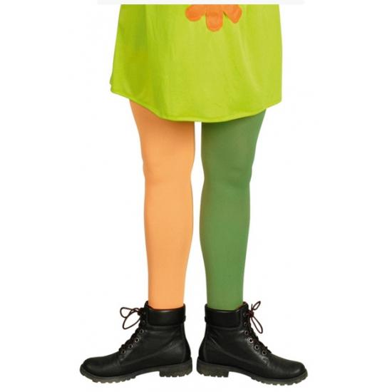Oranje en groene kous Carnavalskostuum winkel Verkleedaccessoires