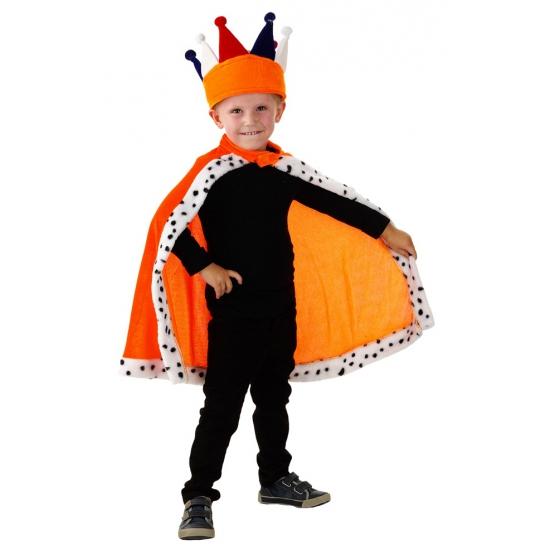 Oranje konings capes voor kids Geen Kleuren kostuums