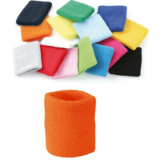 Oranje pols zweetbanden