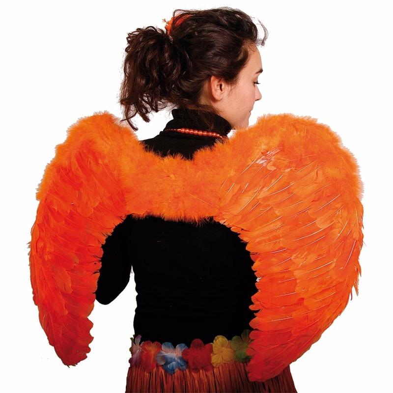 Oranje Vleugels 80 X 56 Cm