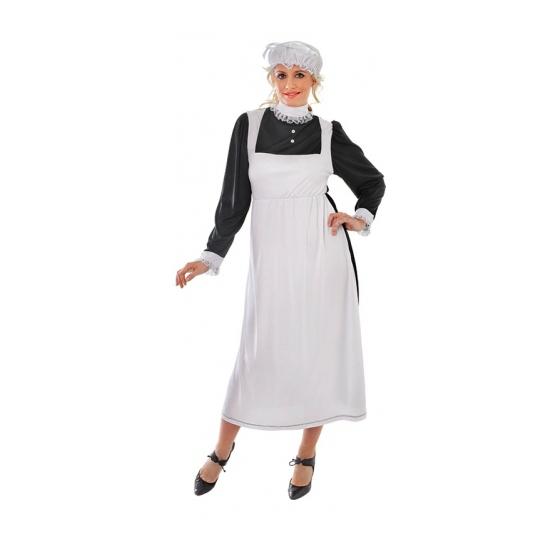 Ouderwets dienster kostuum voor dames