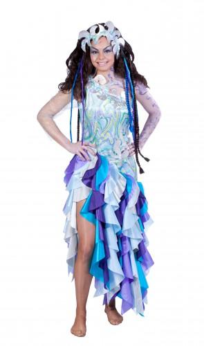 Carnavalskostuum winkel Paars met blauwe zeemeermin jurk Fantasy en Sprookjes kostuums