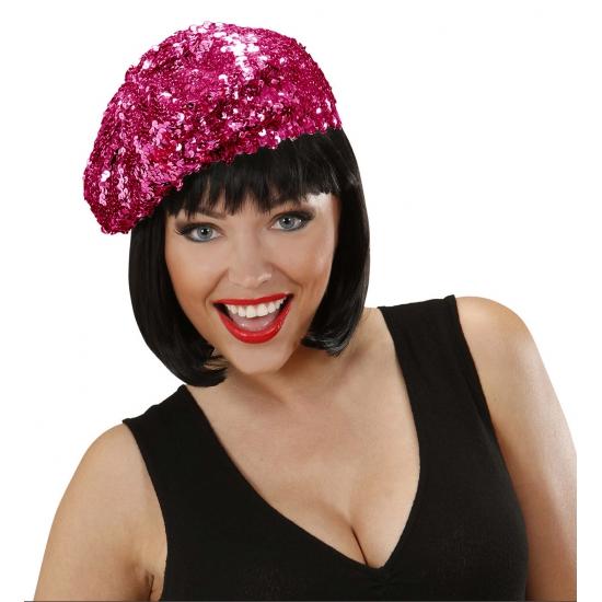 Carnavalskostuum winkel Paarse glitter mutsjes voor dames Feest hoeden